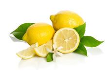 Lemons Tree Flower And A Lemon...
