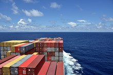 Large Cargo Container Ship Loa...