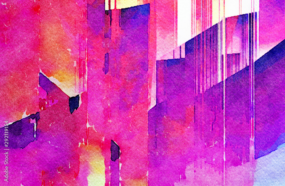 Fototapety, obrazy: Abstract contemporary background. Watercolor texture pattern. Oil painting style. Stock. Digital design impressionism artwork. Hand drawn artistic. Art for sale. Warm colors. Paper or canvas print.
