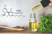 Hemp Oil, CBD Chemical Formul...
