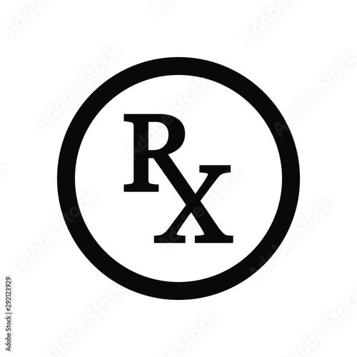 Photo Medical symbol : Rx signage template