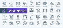 Entertainment - Outline Web Ic...