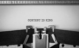 Text Content is King typed on retro typewriter - 292124554