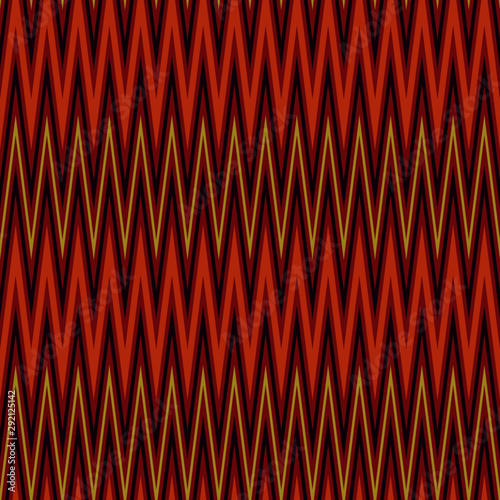 Four Colored Narrow Zigzag Chevron Seamless Pattern Canvas Print