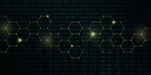 Gold Technical Honeycomb With ...