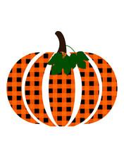 Illustration Of Pumpkin With Buffalo Plaid