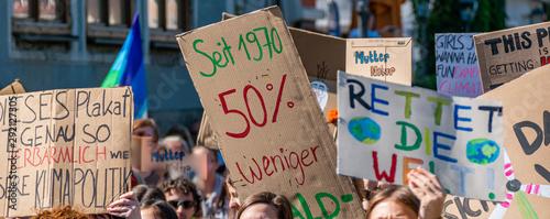 Fototapeta Panorama Fridays for Future Demonstration