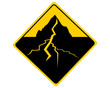 Verkehrsschild mit Erdbeben