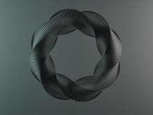 Torus On A Grey Background