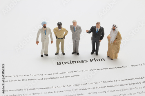 a figure of Business Team Discussing Over Market Research Wallpaper Mural