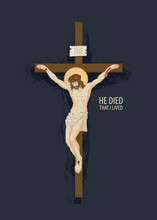 Vector Banner With Crucifix An...