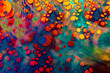 Abstract grunge art background texture with colorful paint splashes.