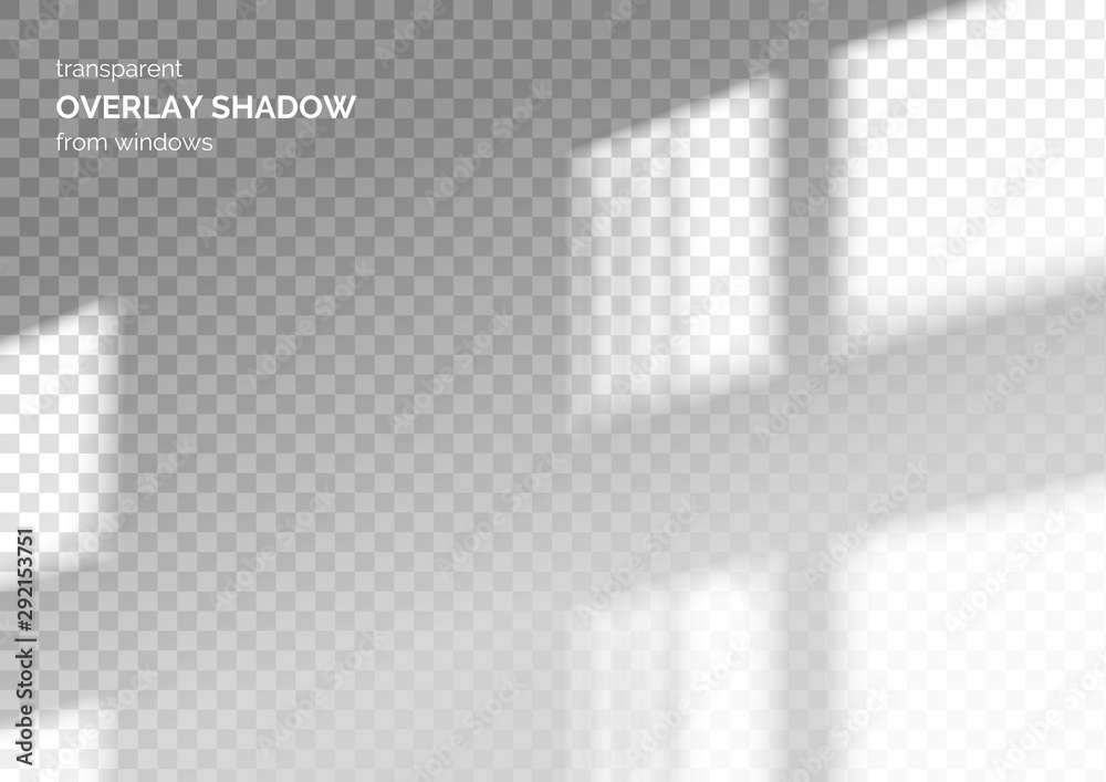 Fototapeta Transparent overlay shadow from the window