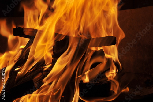 Abstract Fire Textures surface background closeup Set Fototapet