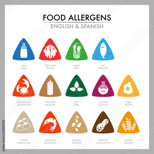 Photo Food allergens for your customers