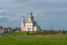 Church Of St. Elijah The Prophet On Ivanova Mountain In Suzdal, Russia. The Golden Ring Of Russia.