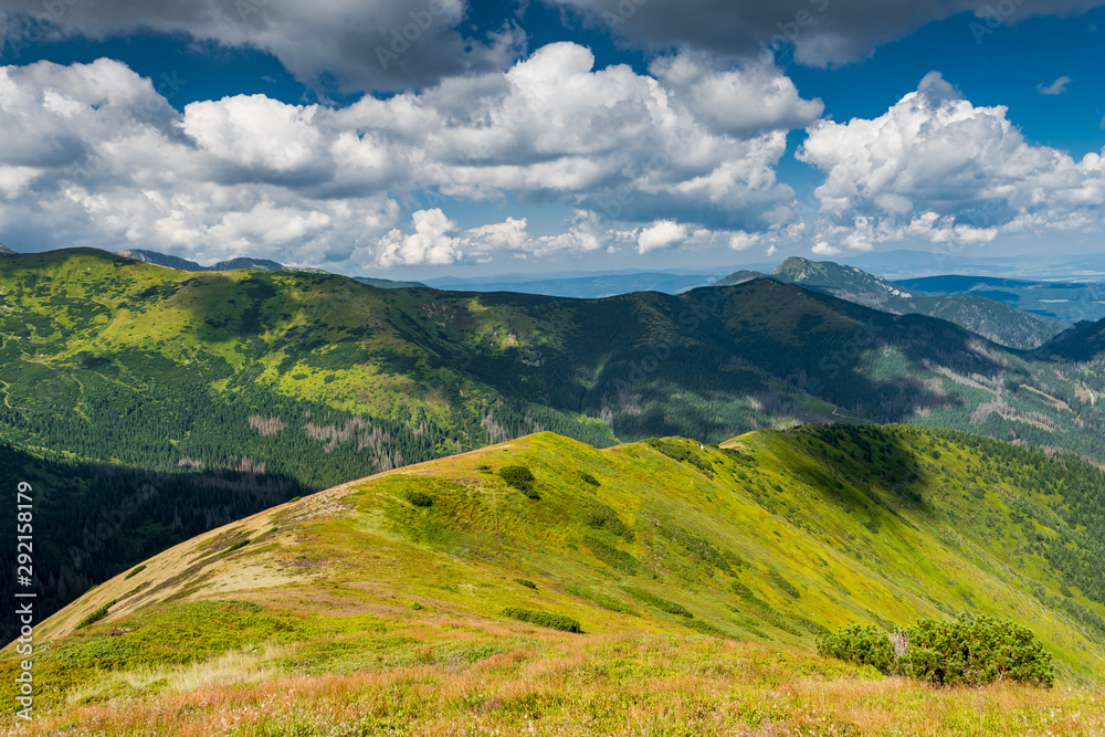 Fototapety, obrazy: Beautifull View Over Hils and Peaks in Tatras Mountains, Poland