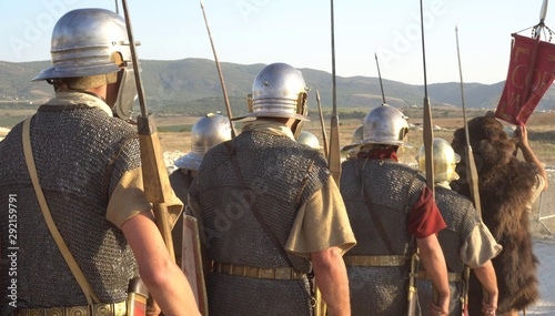 Foto A Roman legion was a large military unit of the Roman army