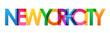 NEW YORK CITY colorful city name typography banner