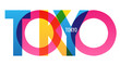 TOKYO colorful city name typography banner
