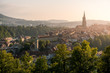warm afternoon light over the historic city of Bern, Switzerland