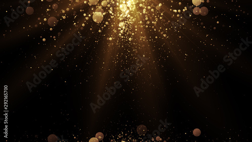 Cuadros en Lienzo Luxury background with golden particles at the top and bottom