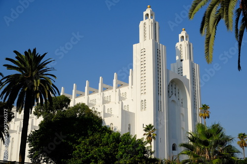 Morocco Casablanca Cathedral or Church of the Sacred Heart horizontal Fototapet