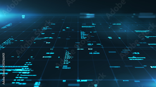 Photo  Abstract background of a cyberspace with information details