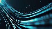 Blue Futuristic Stream. Digita...