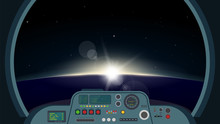 Inside Spaceship View. Space F...
