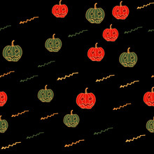 Halloween Seamless Pattern Wit...