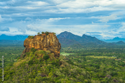 Stampa su Tela sigiriya, lion rock, ancient fortress in sri lanka