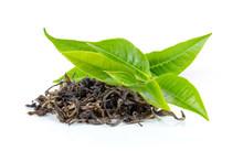 Fresh Green Tea Leaf And Dry  ...