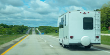 RV Recreational Vehicle On A Highway In US.