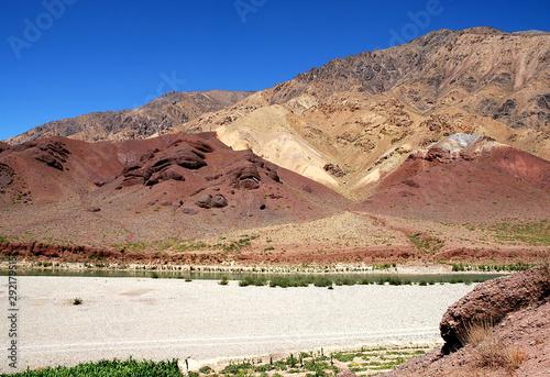 The Hari River (Harirud) near Chisht-e-Sharif in Herat Province, Afghanistan Canvas Print