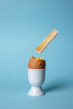 Soft Boiled Egg In Egg Cup On ...