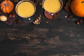 Pumpkin martini cocktail