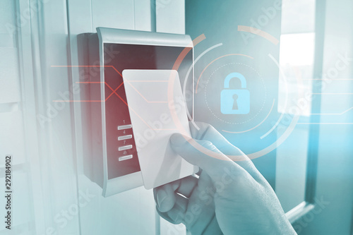Card reader for security access control Canvas Print