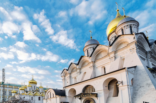 Cathedral of the Annunciation (Blagoveshchensky Sobor) and Cathedral of the Arch Canvas Print