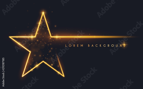 Gold glitter star shape background Fototapet