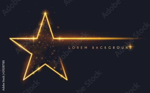 Obraz Gold glitter star shape background - fototapety do salonu