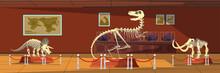 Extinct Animals Bones Vector Illustrations Set