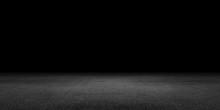 Beton Boden Leer Raum Hintergrund Schwarz Kulisse Für Präsentation