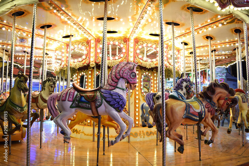 Photo A Classic Carousel in a Fair 2