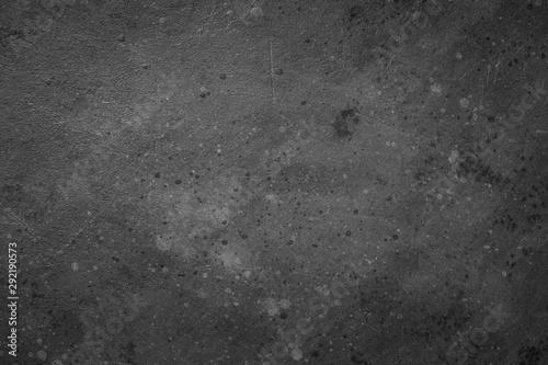 Foto auf Leinwand Logo Black texture dark creative background.