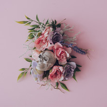 Creative Floral Layout With Sk...