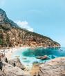 Crystal clear waters of Cala Biriola in Sardinia, Italy