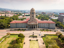Aerial View Of Tshwane City Hall In The Heart Of Pretoria, South Africa