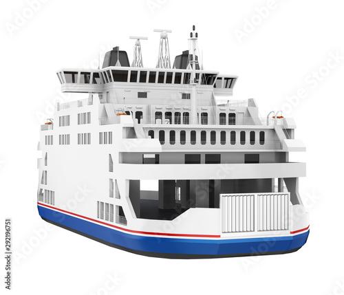 Cuadros en Lienzo  Passenger Ferry Boat Isolated