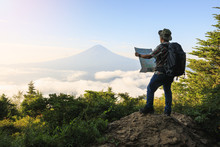 Young Asian Tourist Trekking T...